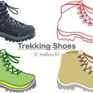 登山靴イラスト