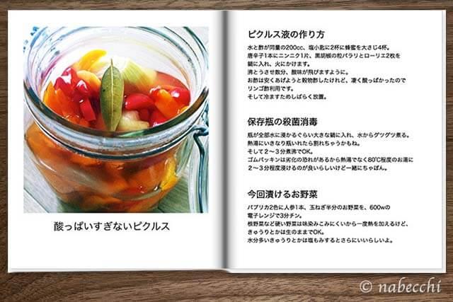 フォトブック 料理レシピサンプル