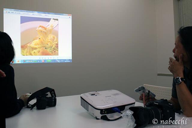 スライド見ながら撮影ポイントの勉強