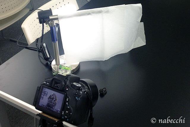 撮影ライティングの設定