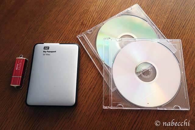 外付けHDD、CD