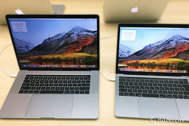 MacBook 13インチ、15インチ