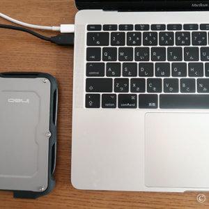 外付けSSDとMacBook Pro
