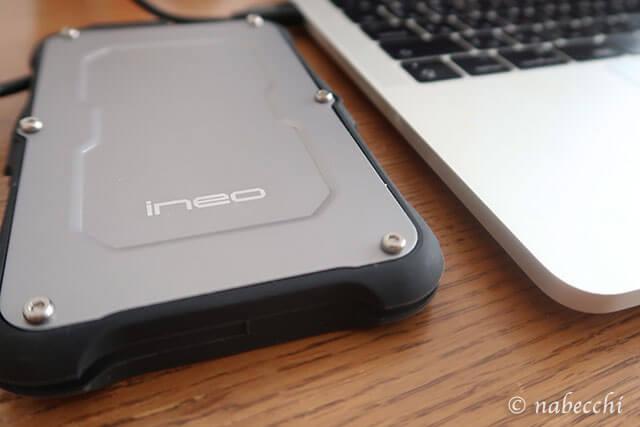 ineo Type C ハードドライブケースのネジ山