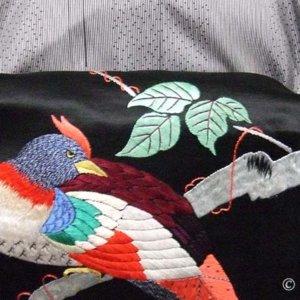 アンティーク名古屋帯と大島紬の組み合わせ。ただし八掛けに不満