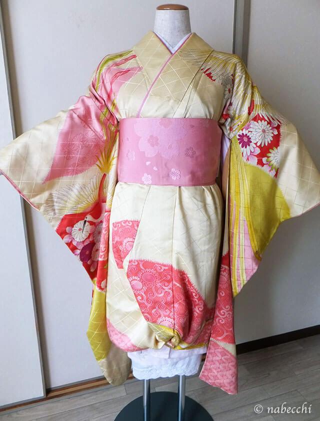 女性用袴着せ付け 半幅帯を締める