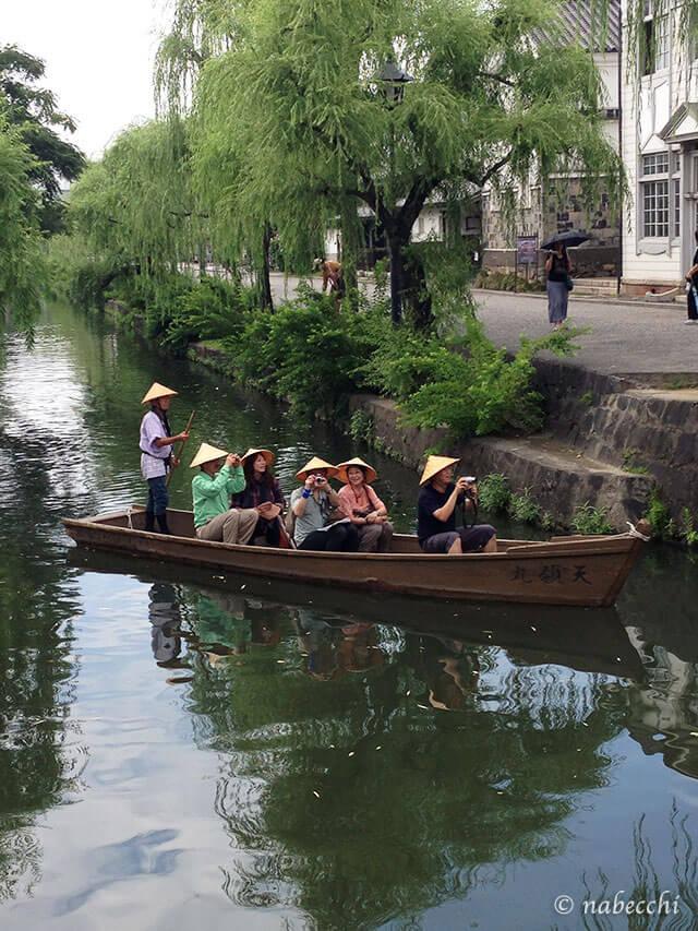 倉敷川舟流し体験