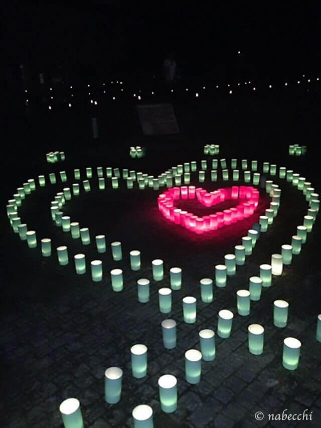 なら燈花会 ハート型 奈良公園