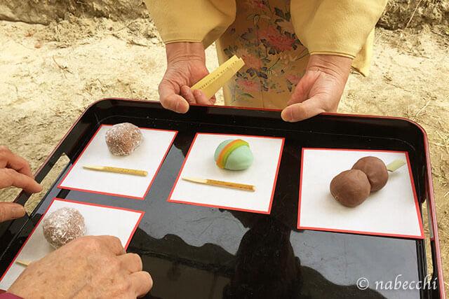 竜田川紅葉祭り 野点の主菓子