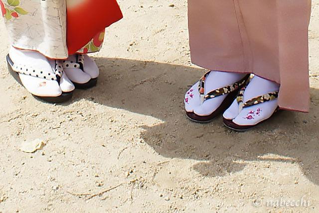 普段着物の足元 草履