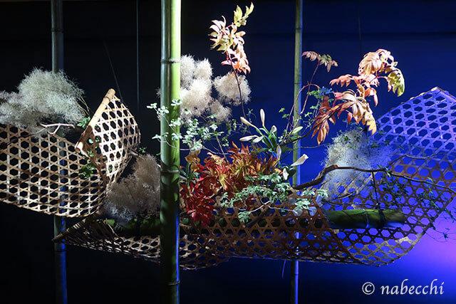一葉式いけ花「和のあかり×百段階段展2017」