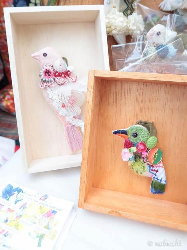 IRODORI AZ 鳥ブローチ ハコノトリ 2作品