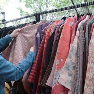 大江戸骨董市でお花見用の羽織探し。ブログ読者さんとの出会い
