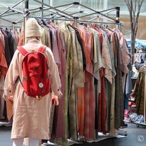 外人さんの悩む着物「羽織はOPENでOK?」春の大江戸骨董市