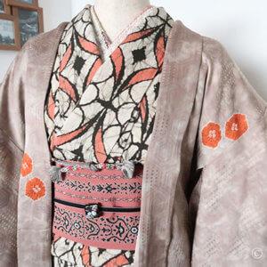 大江戸骨董市でお買い物。2千円春着物コーデ(着物・帯・羽織)完成