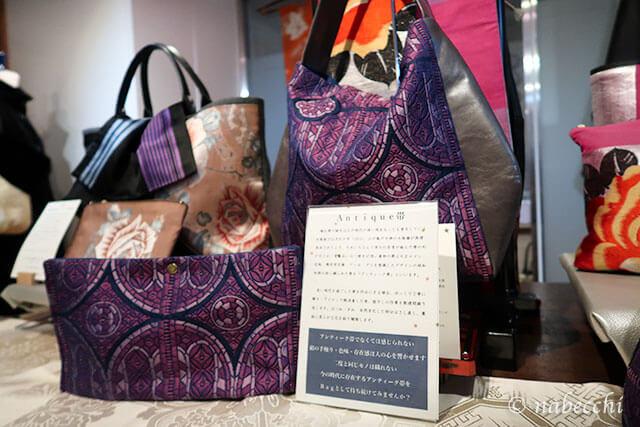 帯バッグ「ぬいもの屋 個々展」アンティーク帯作品