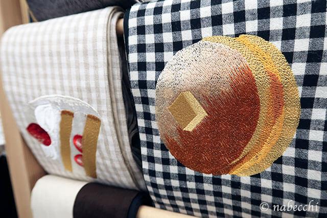 スィーツ柄刺繍名古屋帯 ゴフクヤサン・ドットコム居内商店