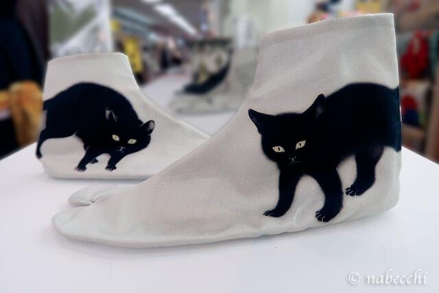 非対称ネコ柄足袋 ゴフクヤサン・ドットコム居内商店