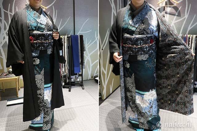 JOTARO SAITO 黒羽織の粋な裏地