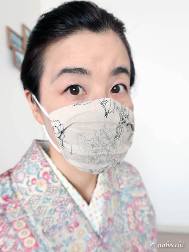 着物にマスク