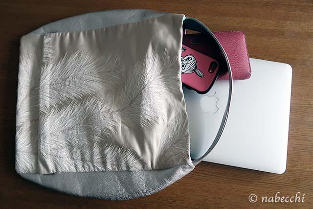 ノートパソコンも入る帯バッグ