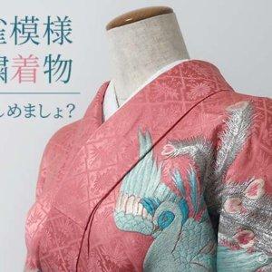 孔雀文様刺繍着物