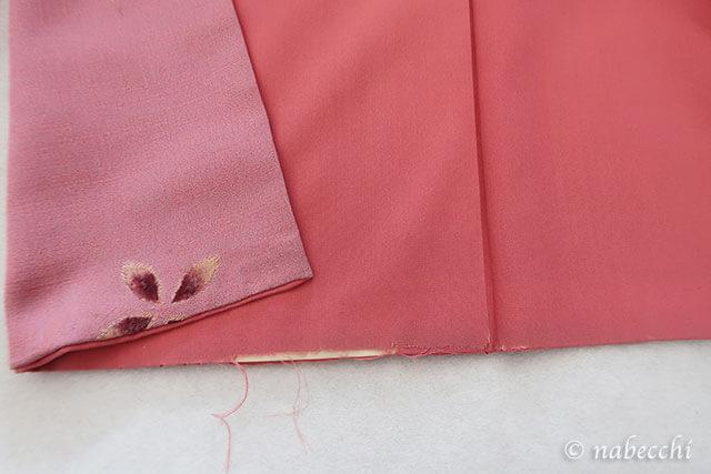 裾の八掛が擦り切れる