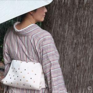 雨の日に阿波しじらでお出かけ