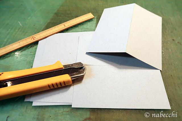 厚紙を正確に正方形を切り出す
