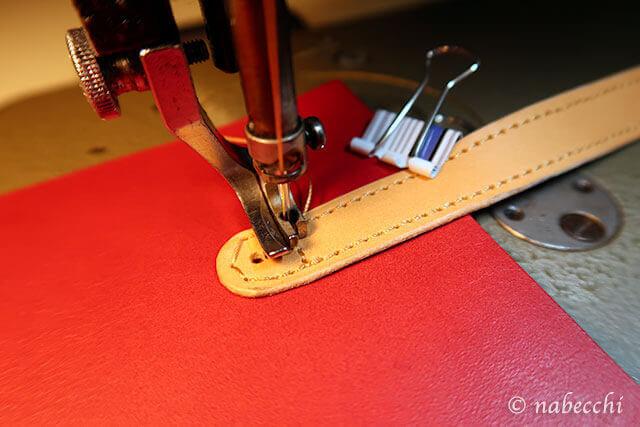 ハンドルのカーブが縫えず酷いミシン目