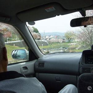 末期ガンの父。車窓から花見をしつつ一時帰宅