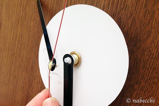 転写式ウォールクロック 時計組立1