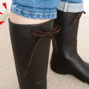 梅雨対策。チビぽっちゃロングブーツ挑戦、クロックスレインブーツOK?