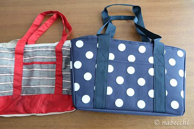 キャプテンスタッグ お買い物用クーラーバッグとコンパクト折りたたみレジカゴバッグの比較