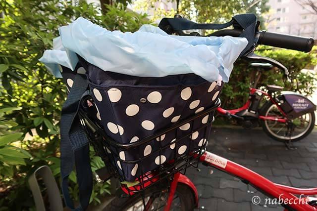 キャプテンスタッグ お買い物用クーラーバッグ 自転車の前カゴで利用