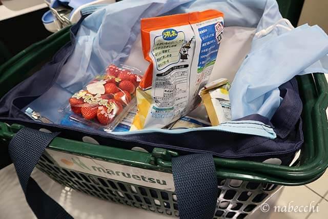 キャプテンスタッグ お買い物用クーラーバッグをスーパーマルエツで利用