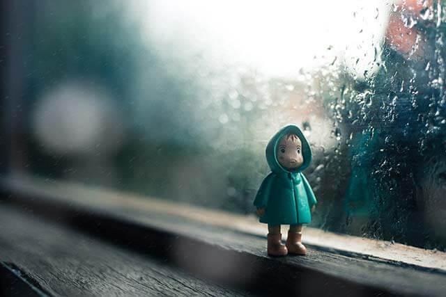雨、悲しい日