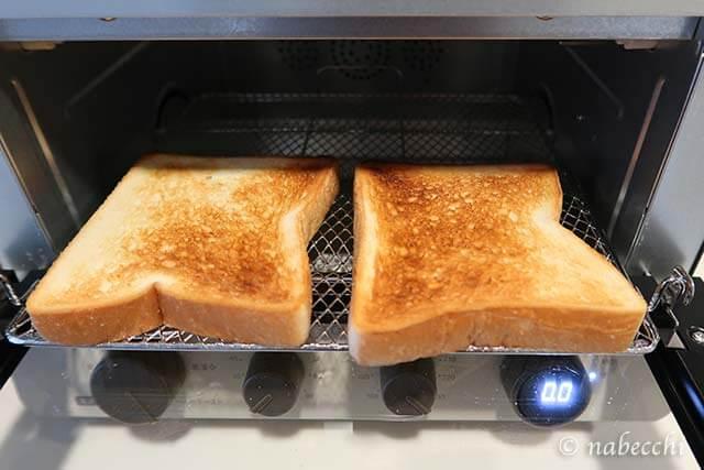 6枚切り食パンこんがり焼く 低温コンベクションオーブンTSF601