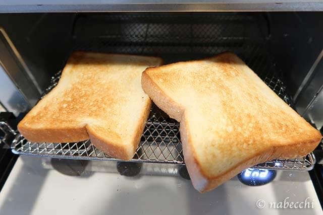 6枚切り食パン 裏側焼き色 低温コンベクションオーブンTSF601