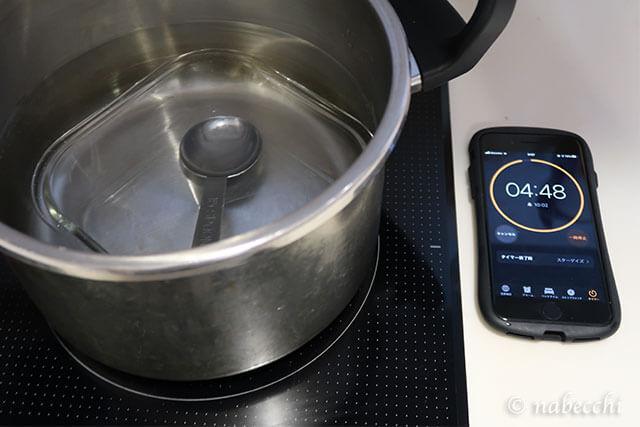 耐熱容器・スプーン熱湯消毒