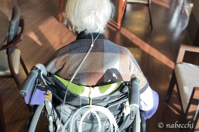 車椅子の母