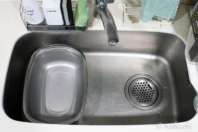 洗い桶ステンレス製小判型があるシンク