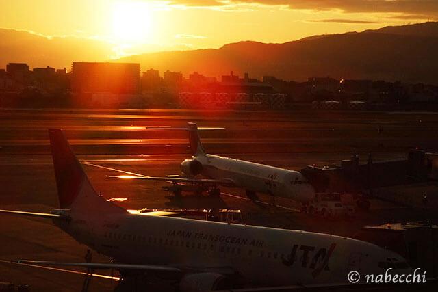 伊丹空港 夕焼け