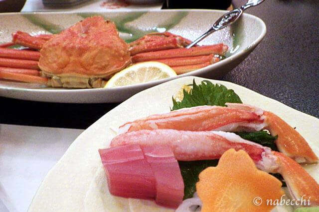 姿ずわい蟹と旬の日本海三種盛