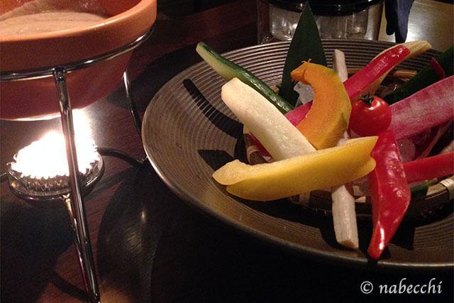 色々野菜のバーニャカウダサラダ ザ・ダイニング カンパーニュ ワイン酒場