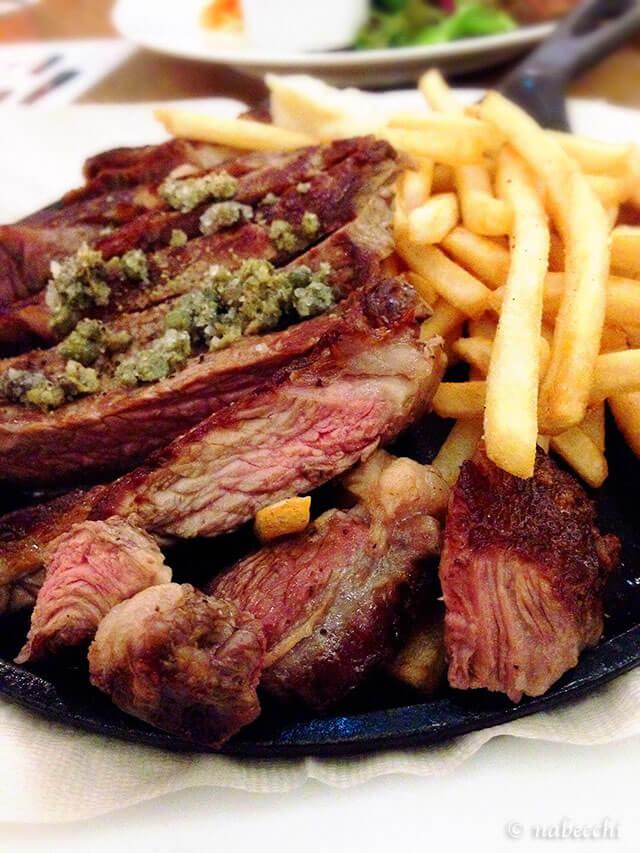 鉄板牛ロースステーキ
