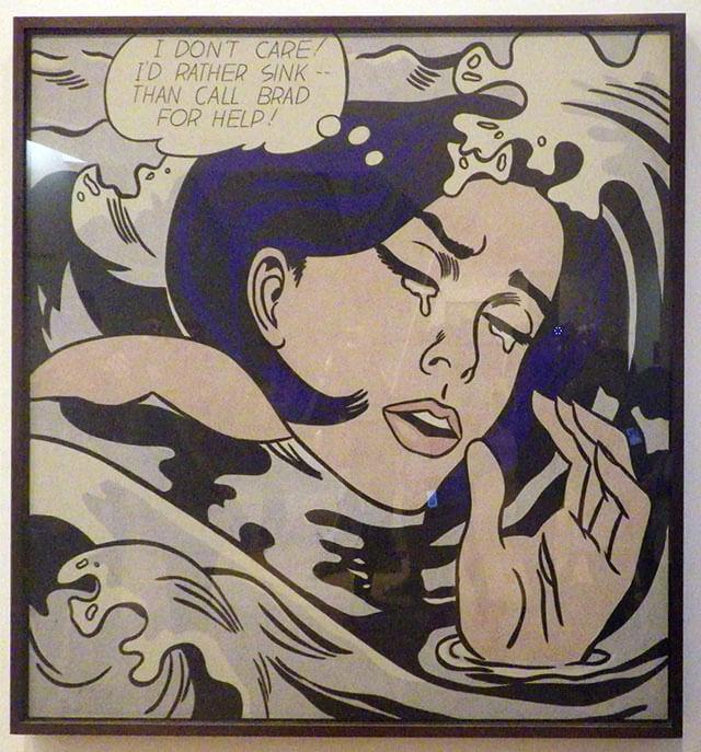 ロイ・リキテンスタイン「Drowning Girl」