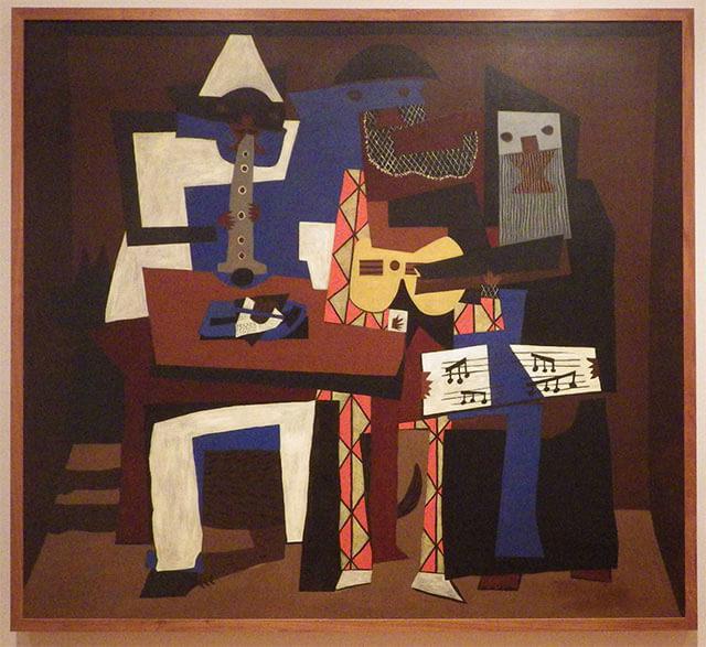 パブロ・ピカソ 「三人の楽士たち(Three Musicians)」