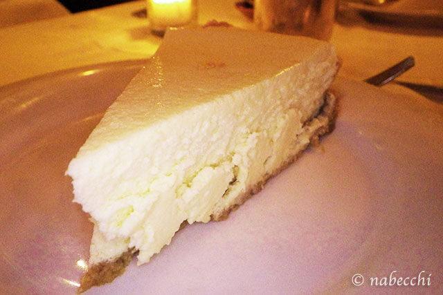 Keens Steakhouse cheesecake