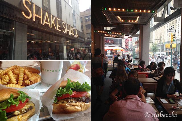 """""""ハンバーガーショップ「Shake Shack シアターディストリクト店」"""